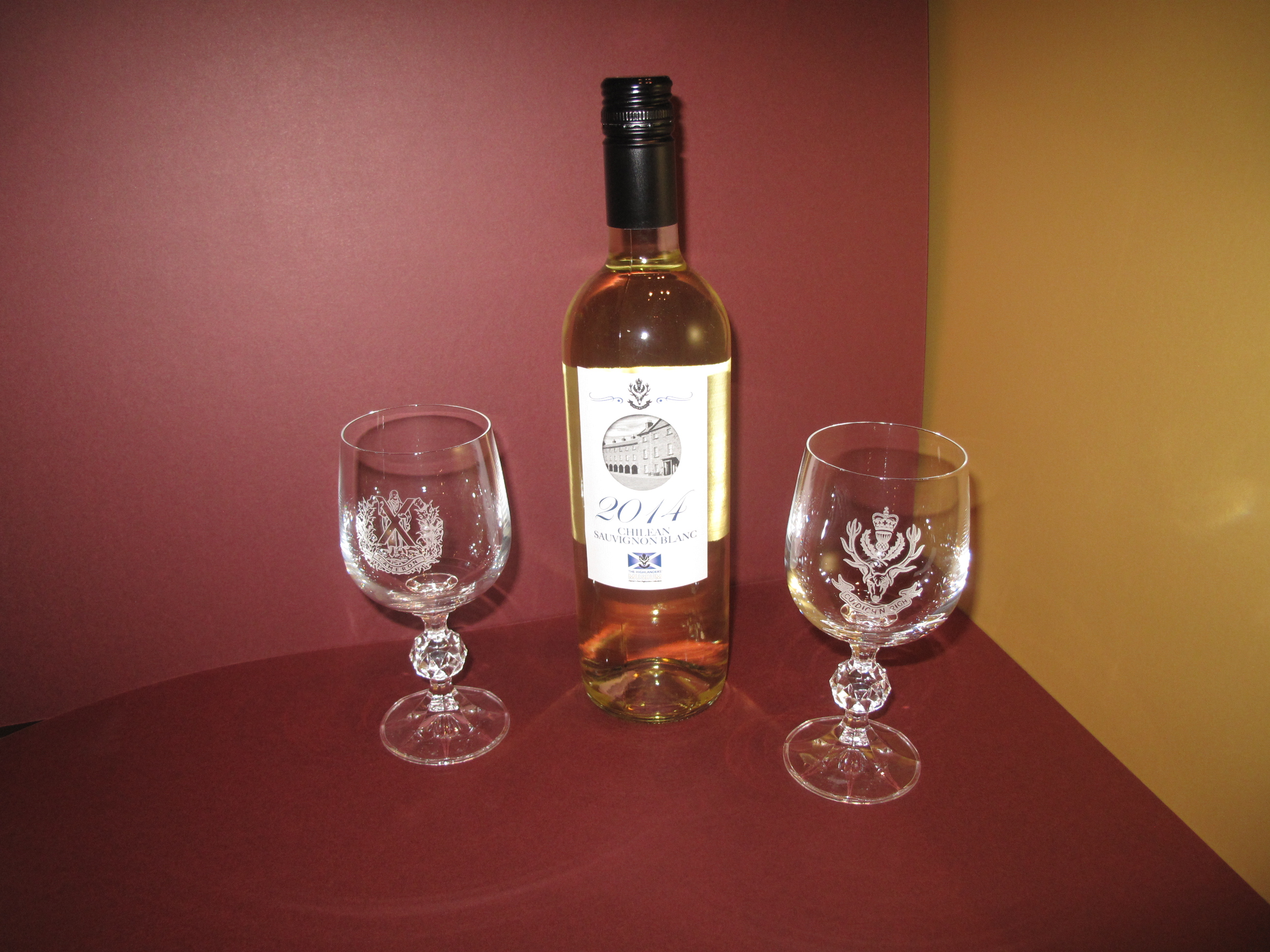 Seaforth Highlanders Wine Glasses - set of two