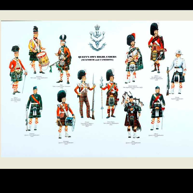 Queen's Own Highlanders (Seaforth and Camerons)  - Print 13