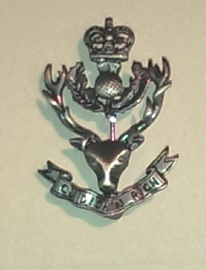 Queen's Own Highlander Miniature Brooch