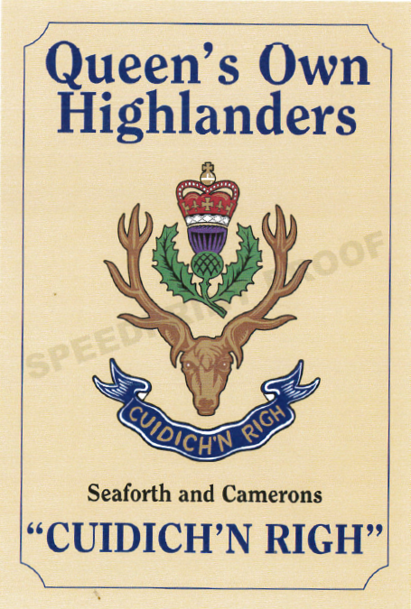 Queen's Own Highlanders Car Stickers