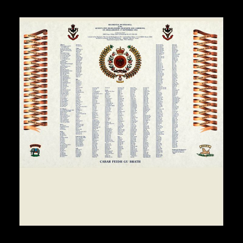 Queen's Own Highlanders(Seaforth and Camerons) Muster Roll Print-11
