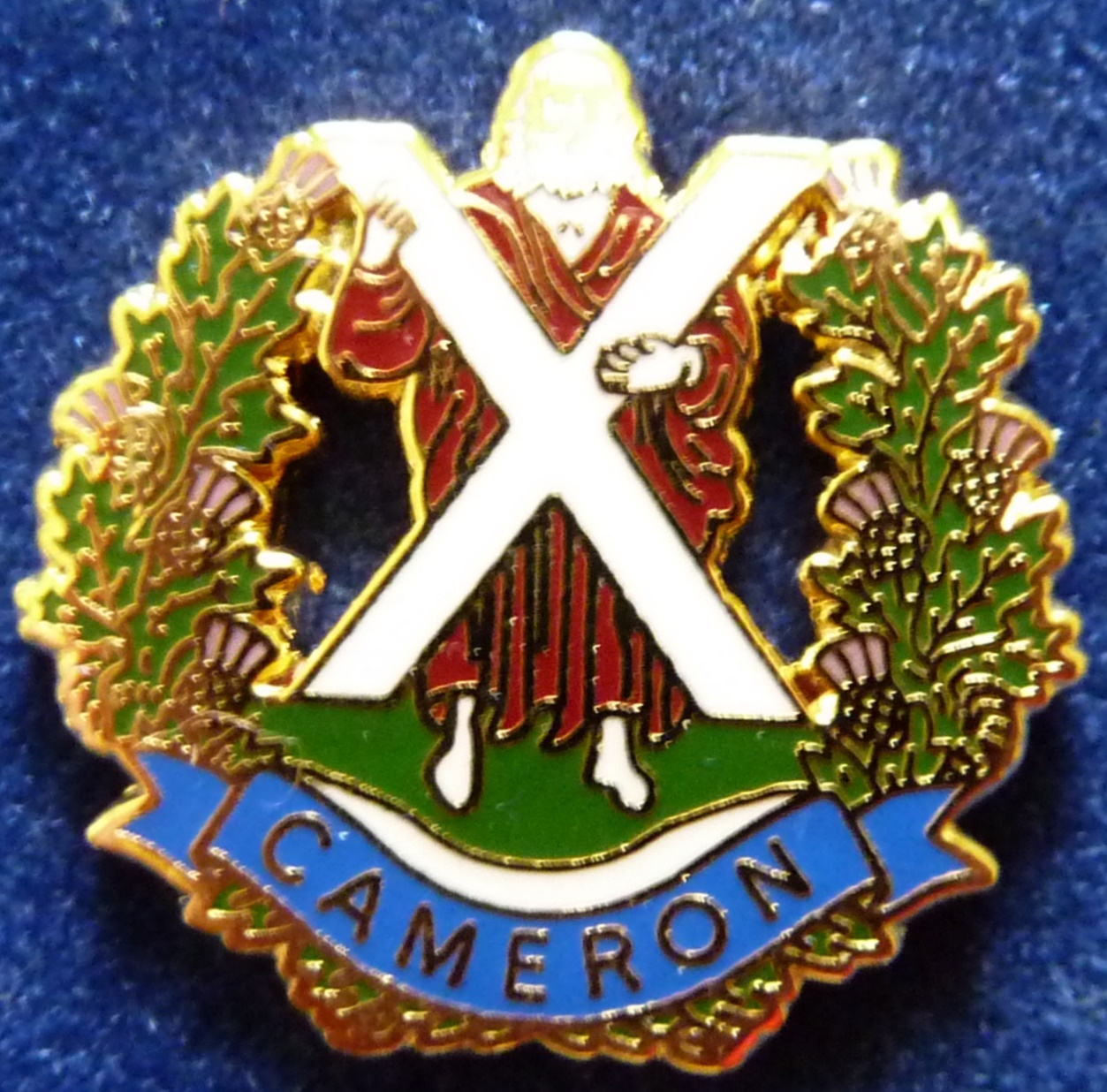 Queen's Own Cameron Highlanders  Lapel Badge