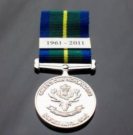 Commemorative Medal--Queen's Own Highlander (Seaforth and Camerons).