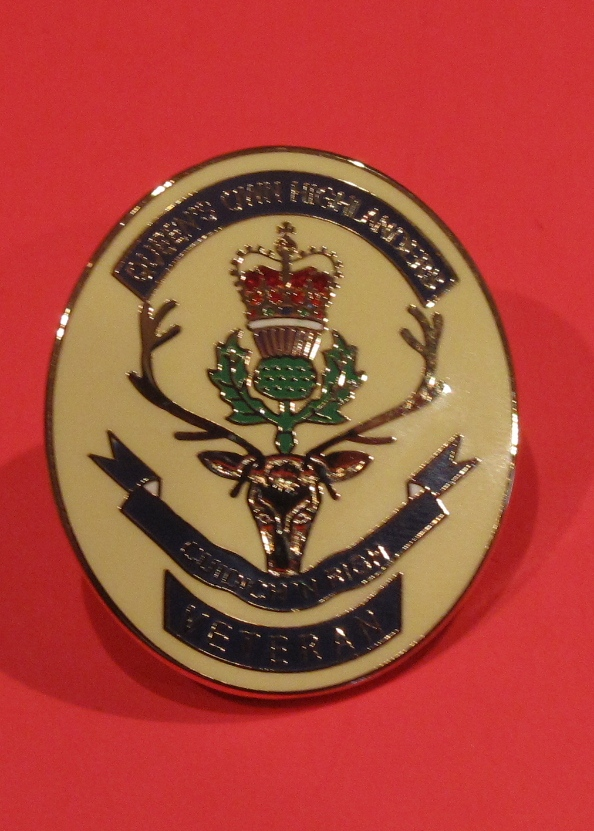 Queen's Own Highlanders Veterans Badge