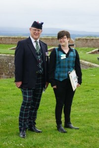 Ann-Marie and Dave Chapman at the ramparts