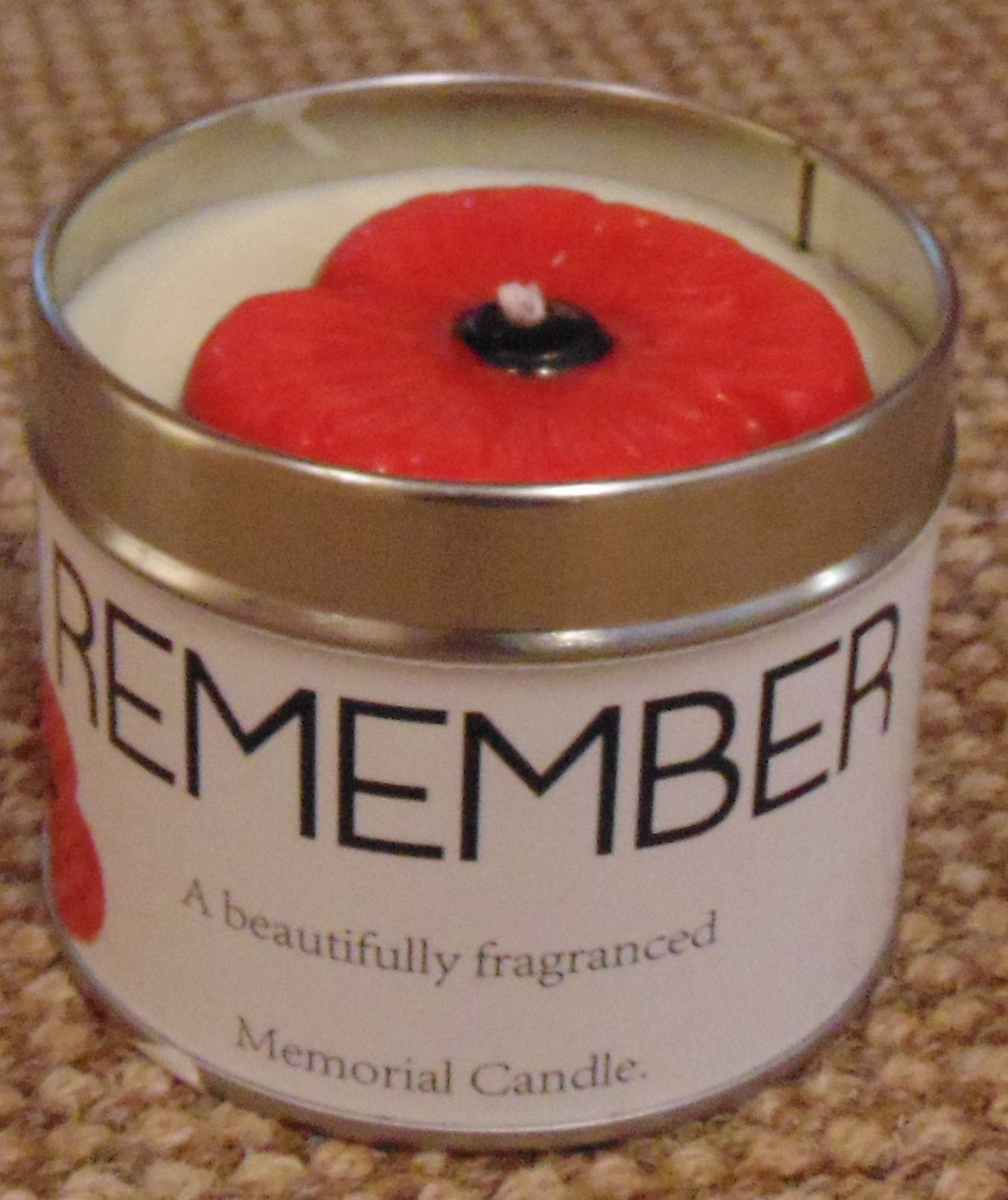 Poppy Candle in a Tin