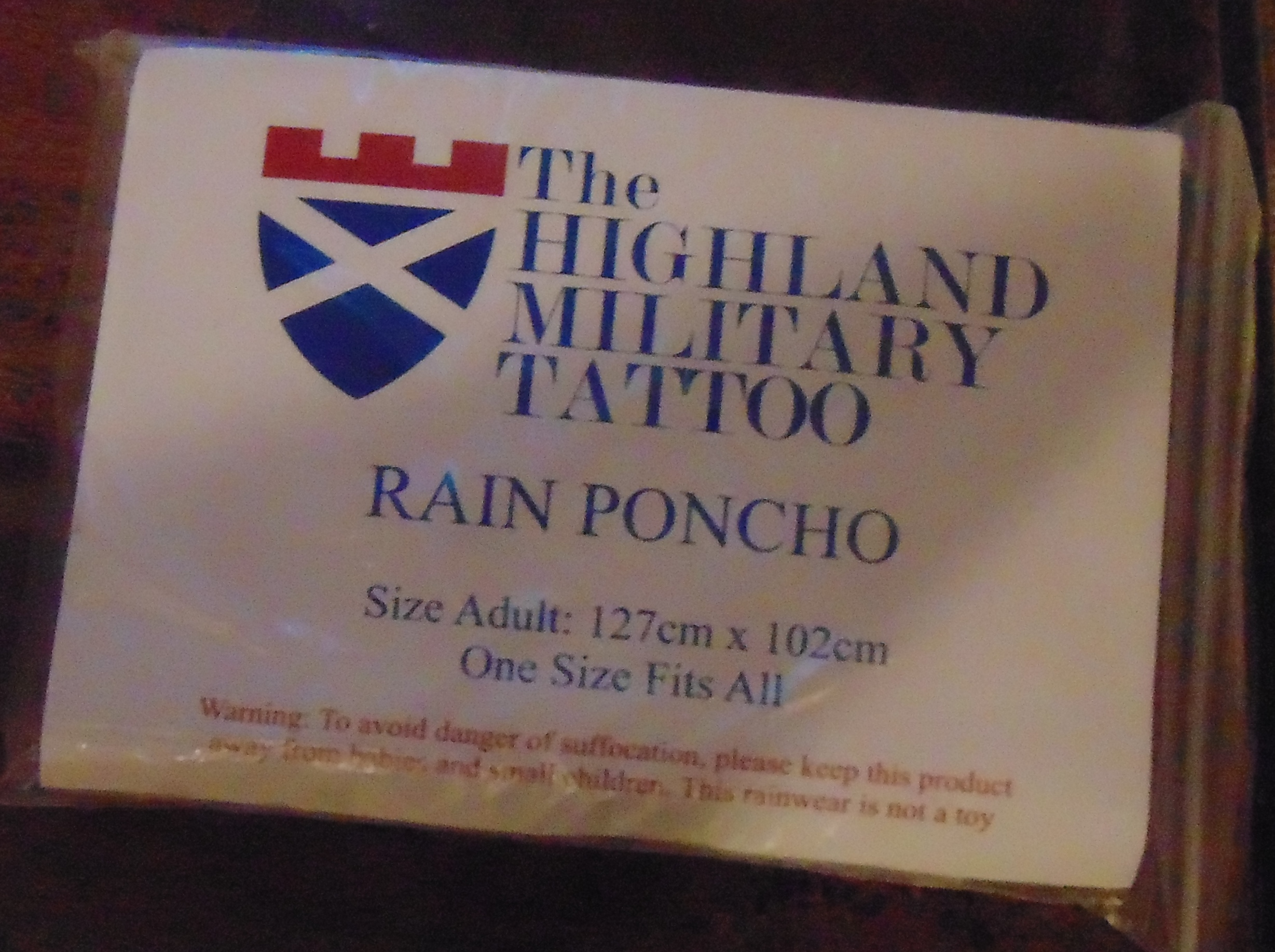 The Highland Military Tattoo Poncho