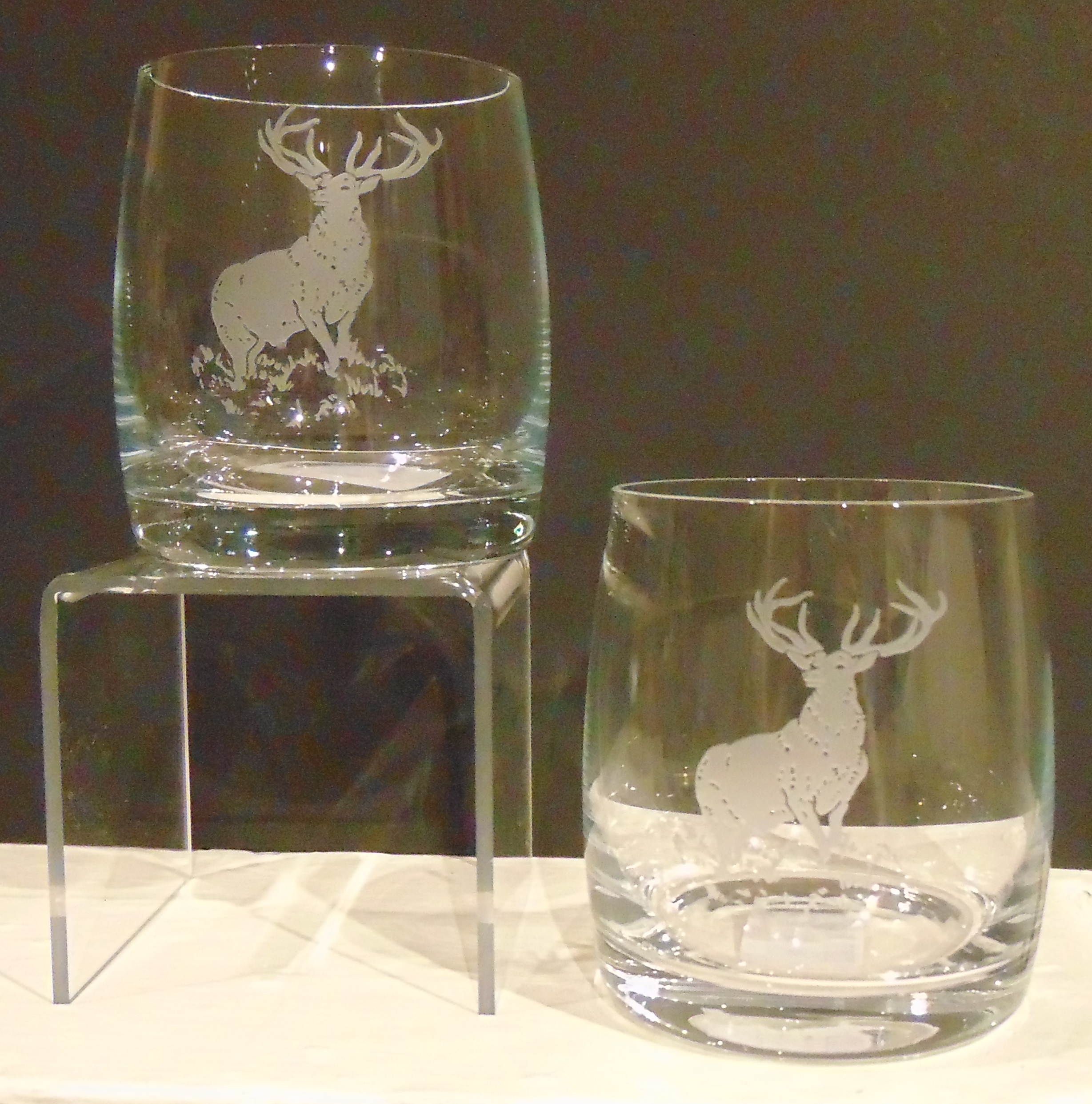 Whisky Glasses Stag set of two