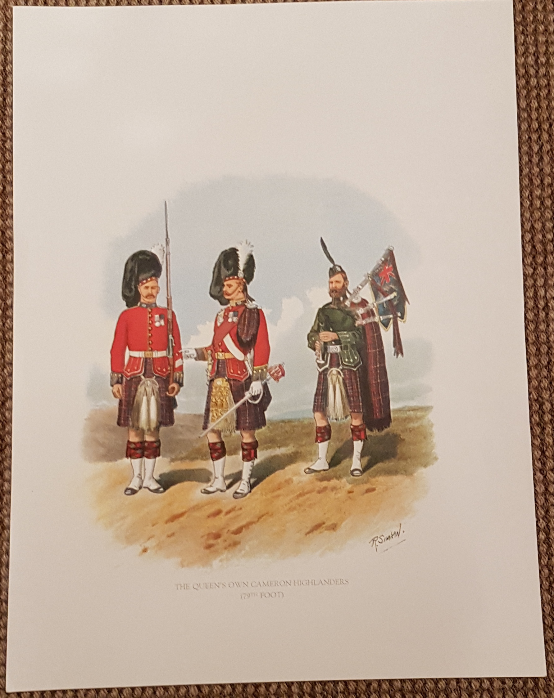 The Queen's Own Cameron Highlanders Poster
