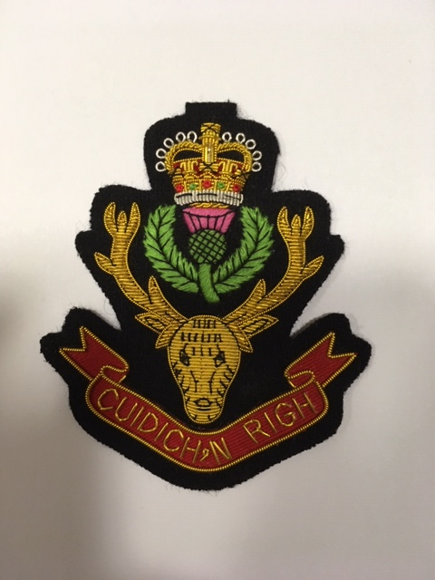 Queen's Own Highlanders (Seaforth and Camerons) - Embroidered Regimental Blazer Badge
