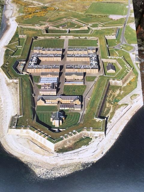 Fort George Ariel View Postcard