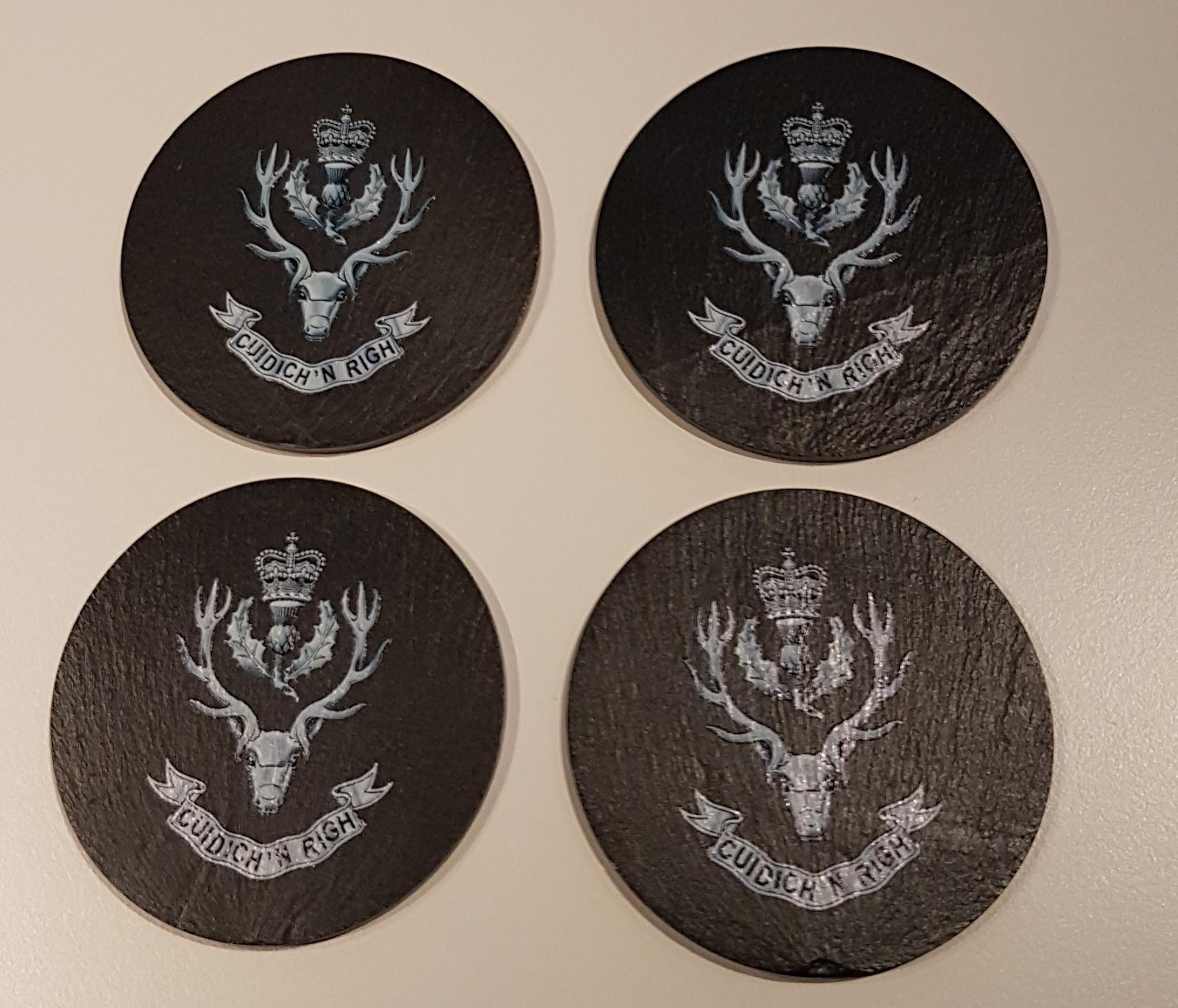 Slate Coasters - Queen's Own Highlanders