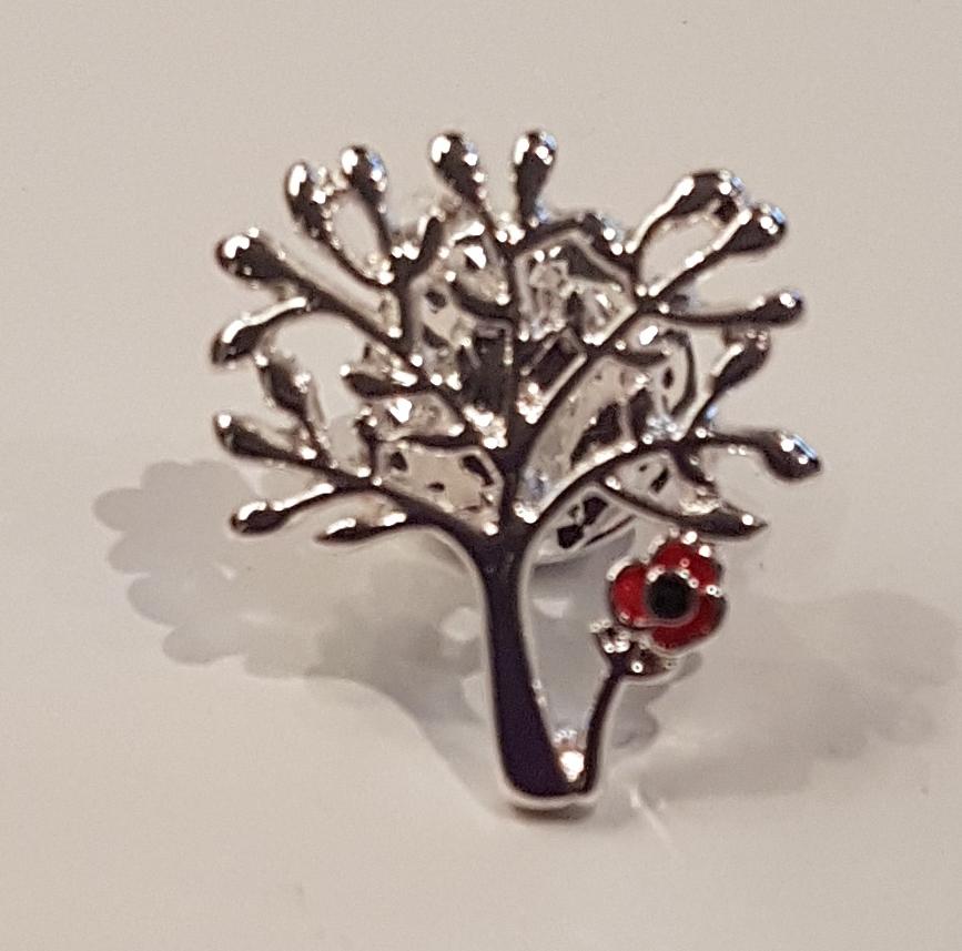 Tree of Life Poppy Brooch