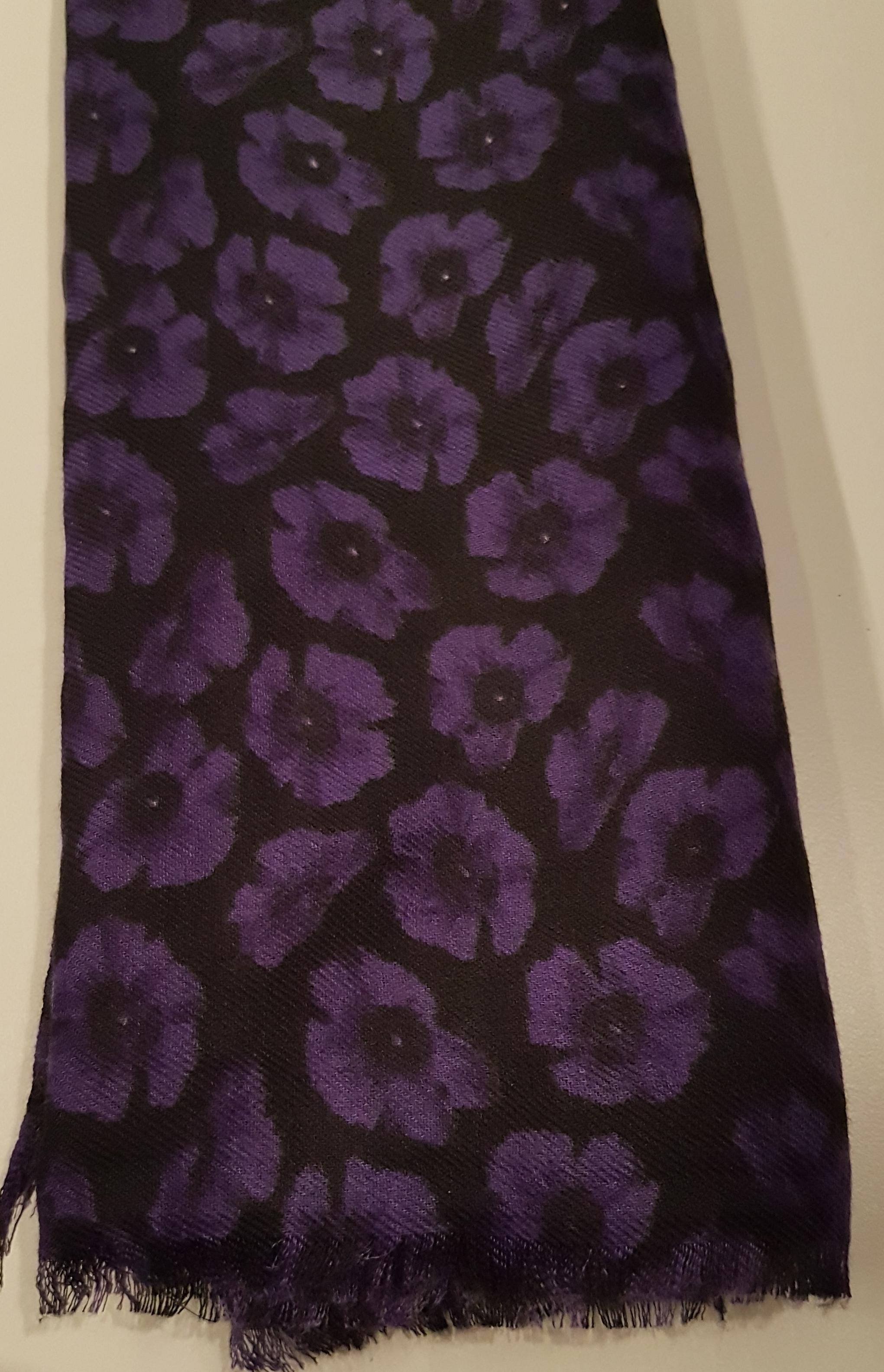 Purple Poppy Scarf