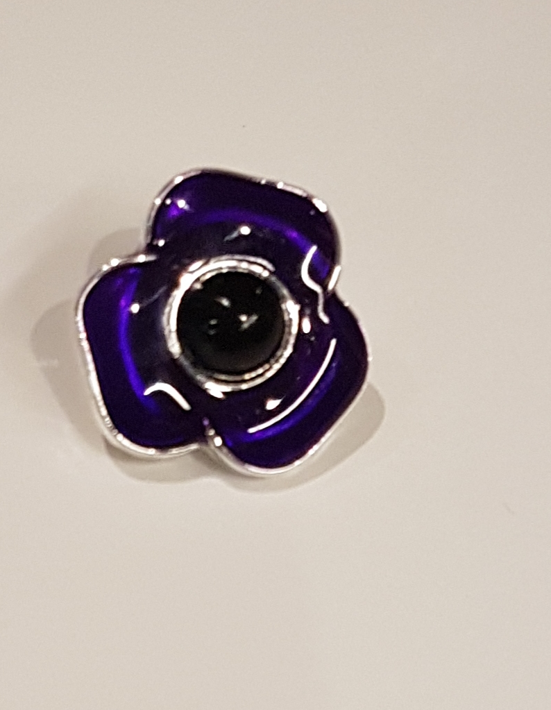 Purple Poppy Pin