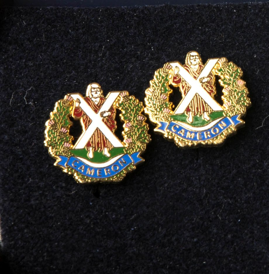 The Queen's Own Cameron Highlanders  Cufflinks
