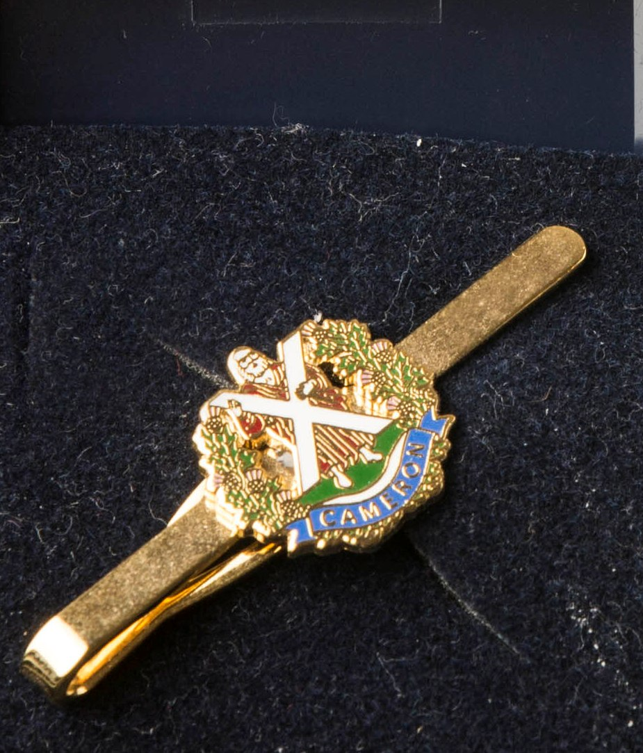 The Queen's Own Cameron Highlanders  Tie Pin