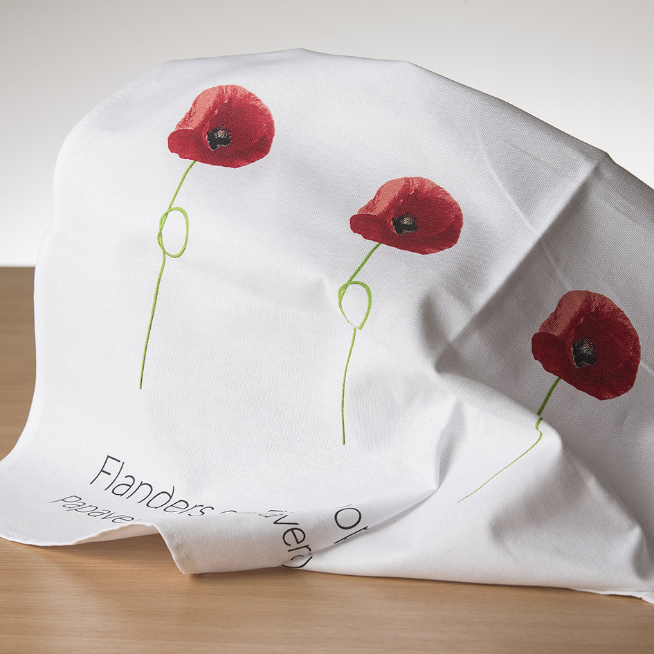 Field Poppy Teatowel