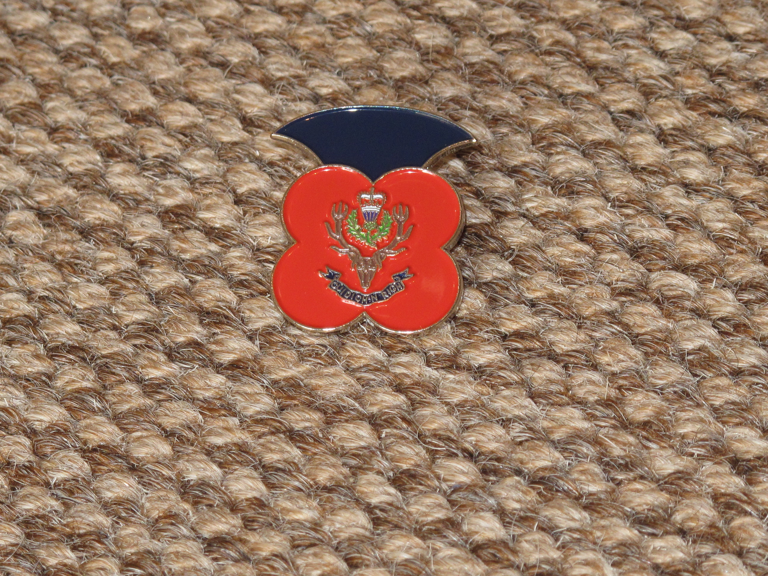 Queen's Own Highlanders Poppy Badge
