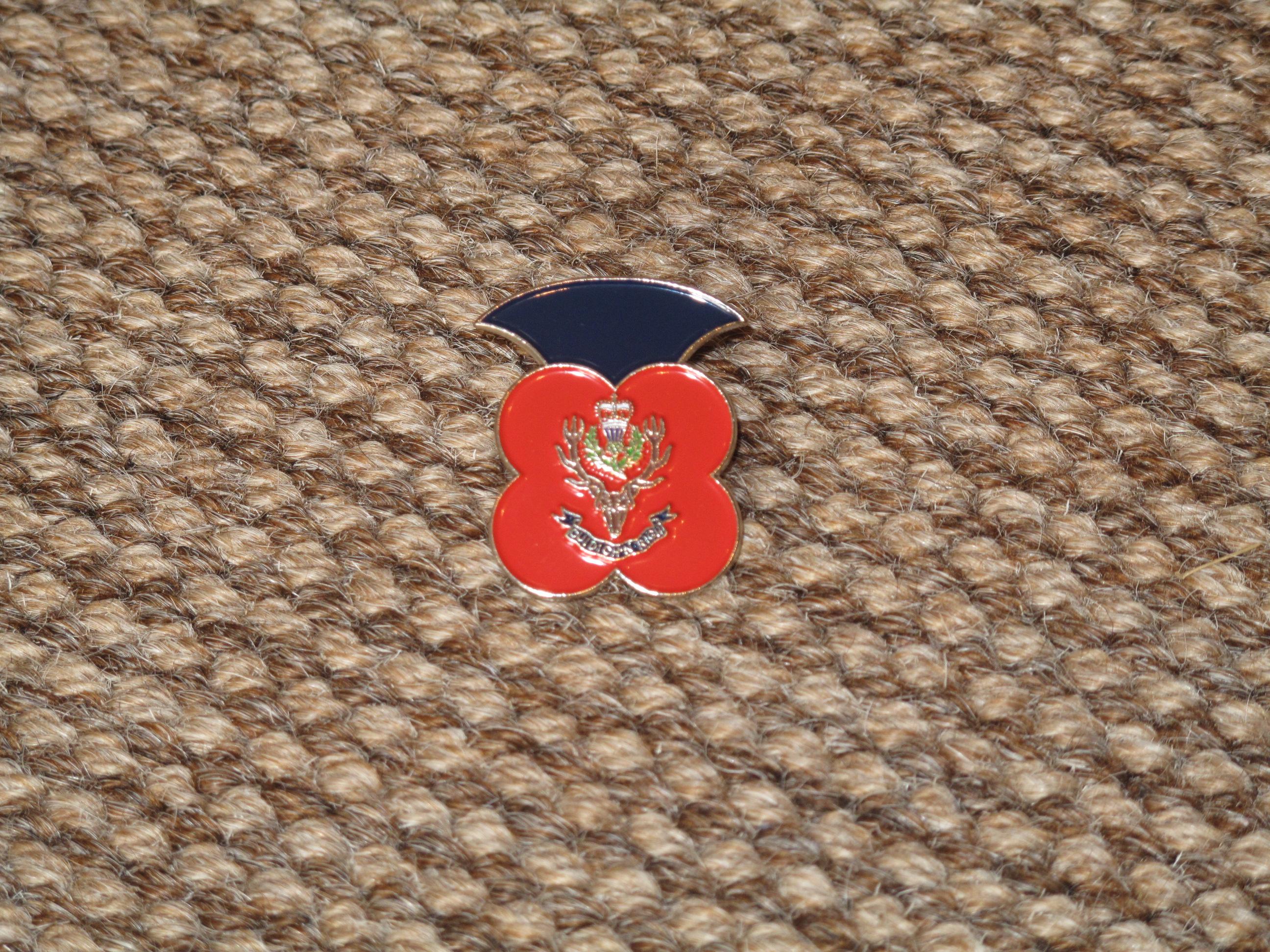 Queen's Own Highlanders Poppy Badge