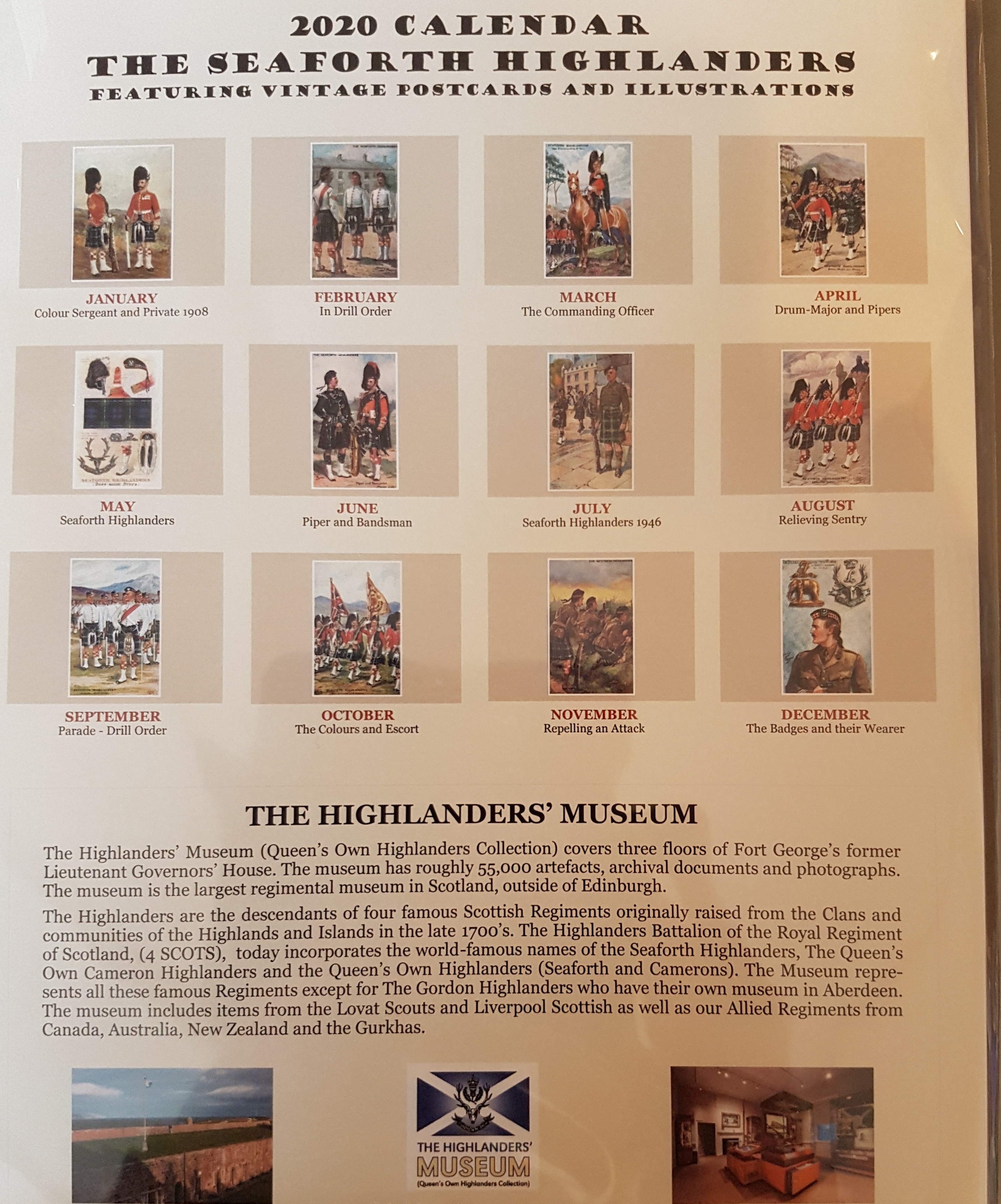 The Seaforth Highlanders 2020 Calendar