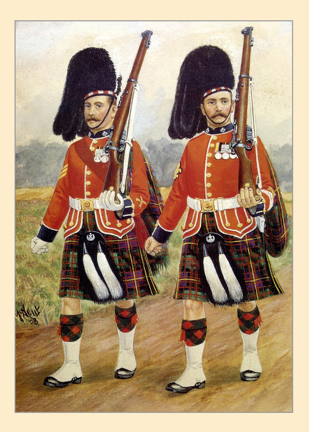 Cameron Highlanders Card