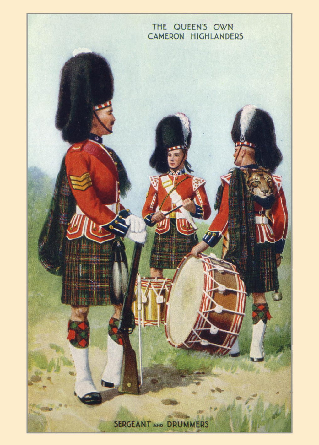 The Queen's Own Cameron Highlanders Card