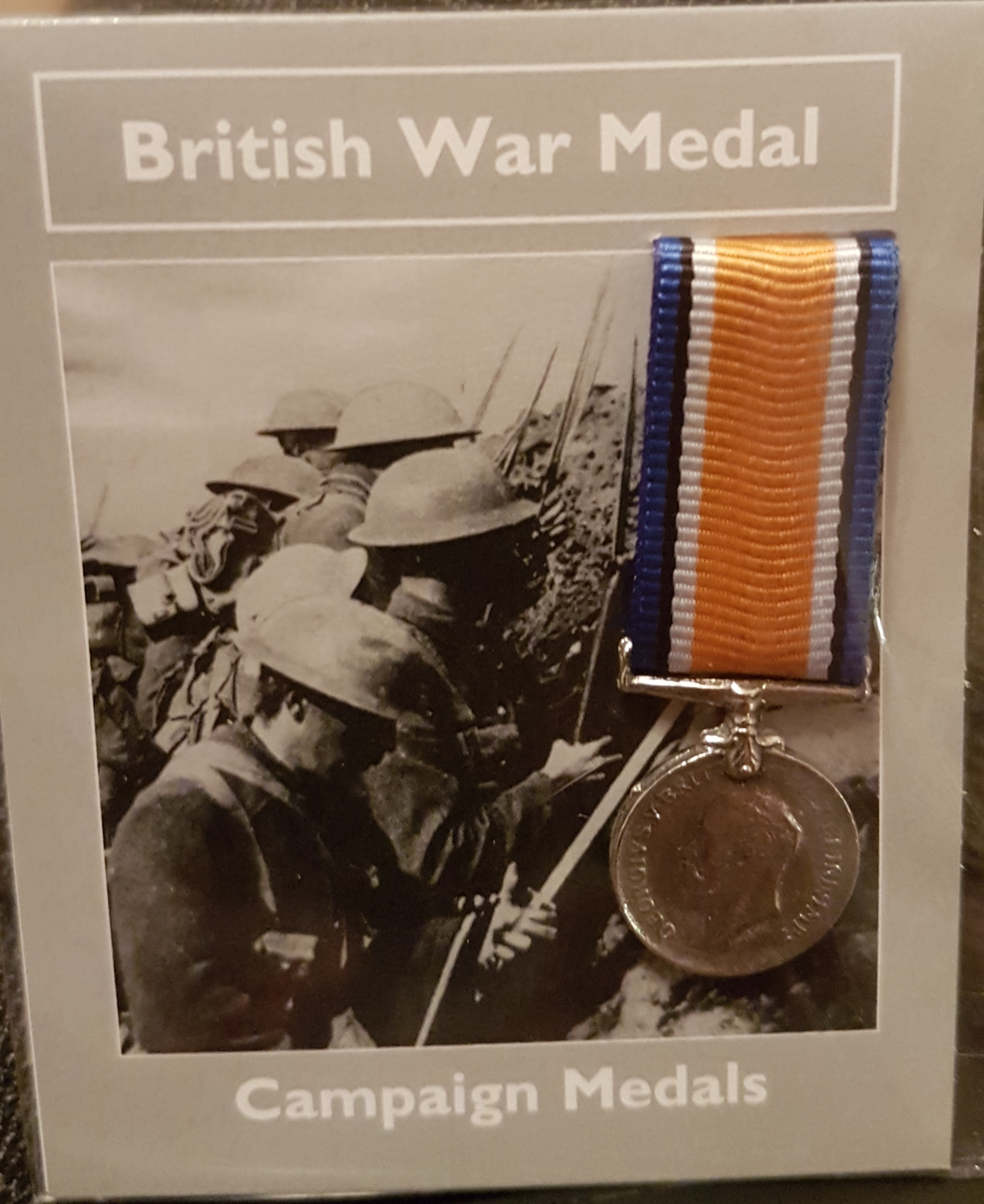 British War Medal - miniature