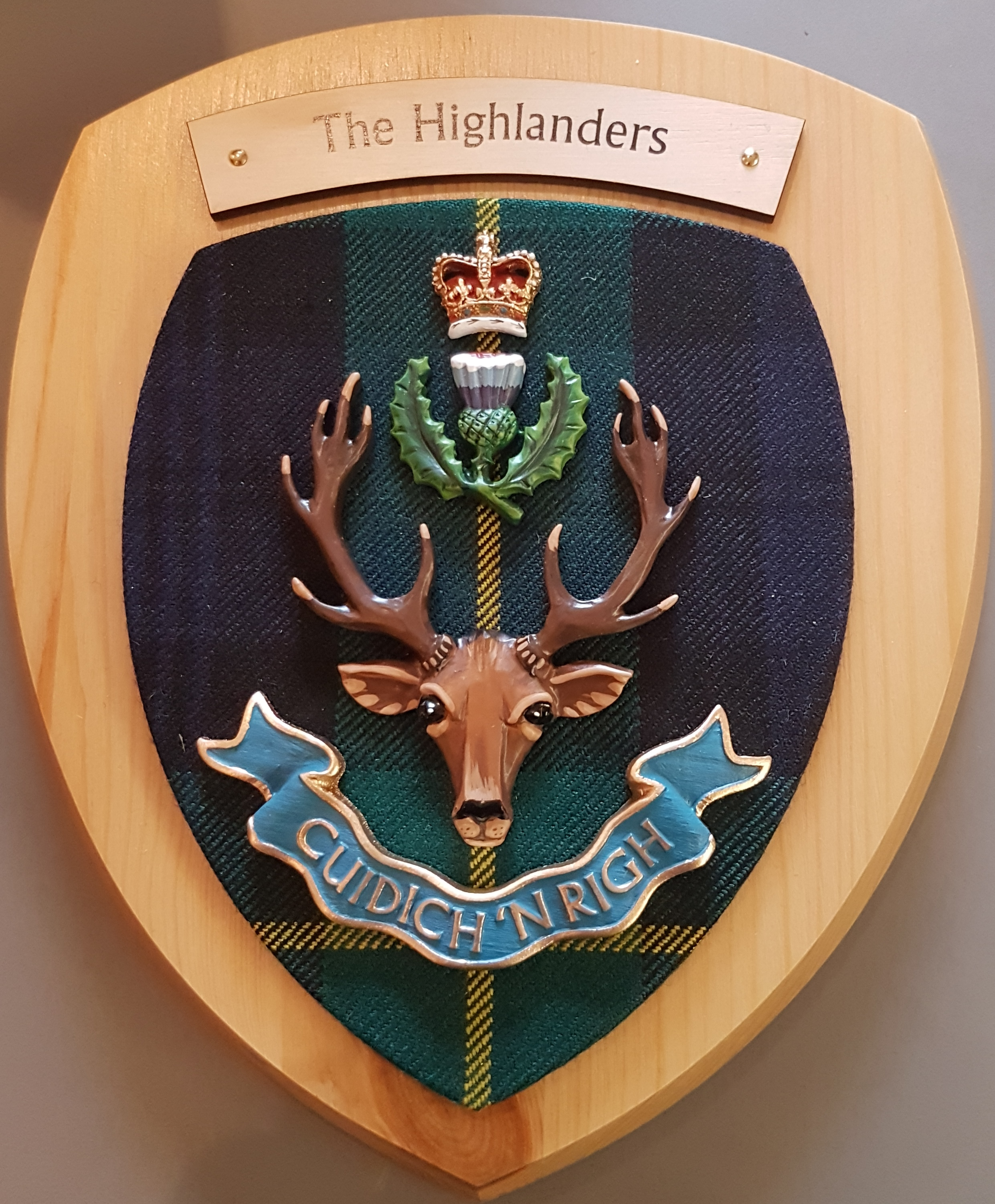 Plaque - The Highlanders colour