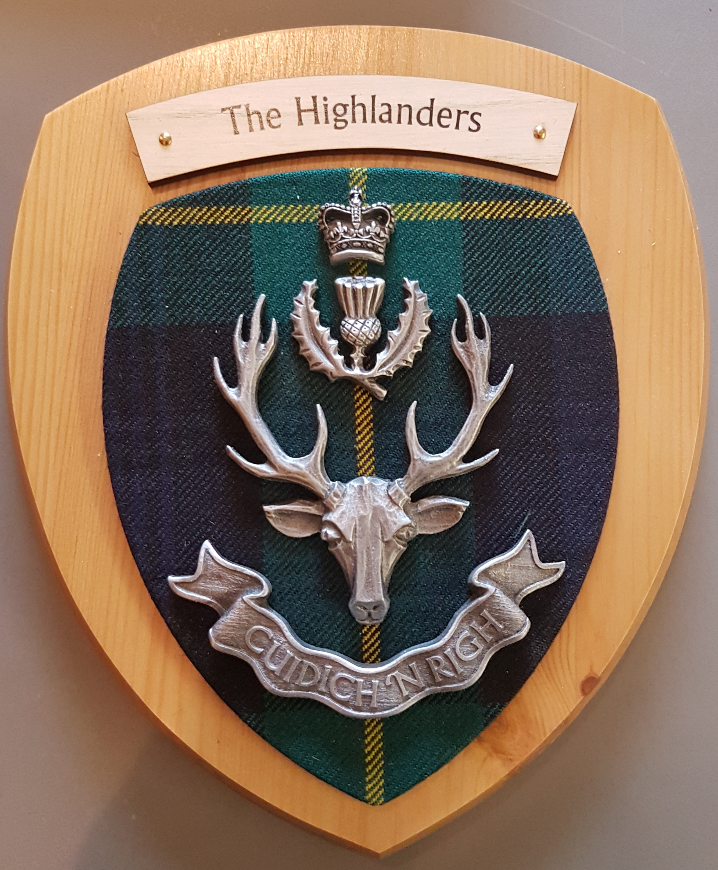 Plaque - The Highlanders Pewter