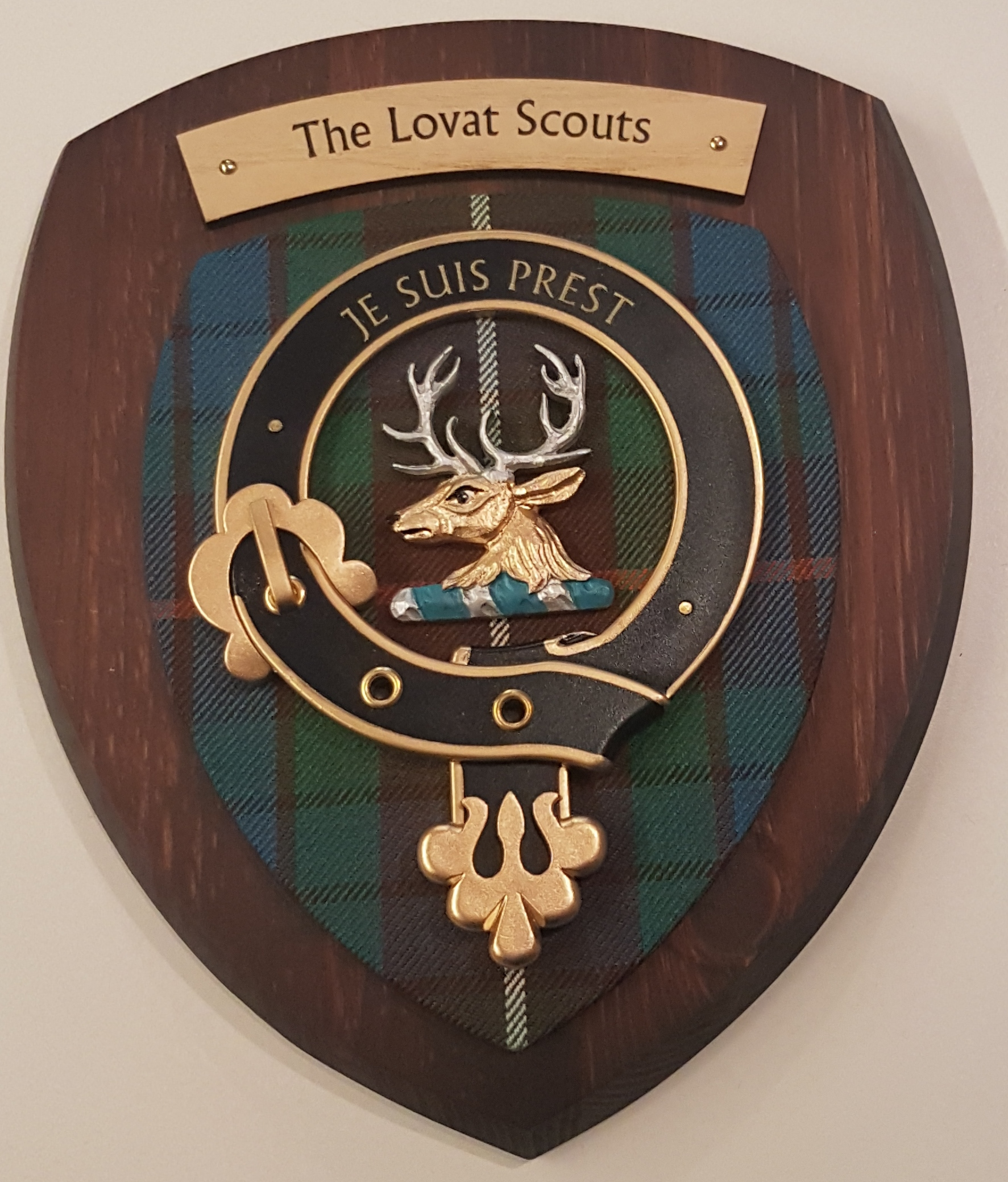 Lovats Scouts Colour Plaque