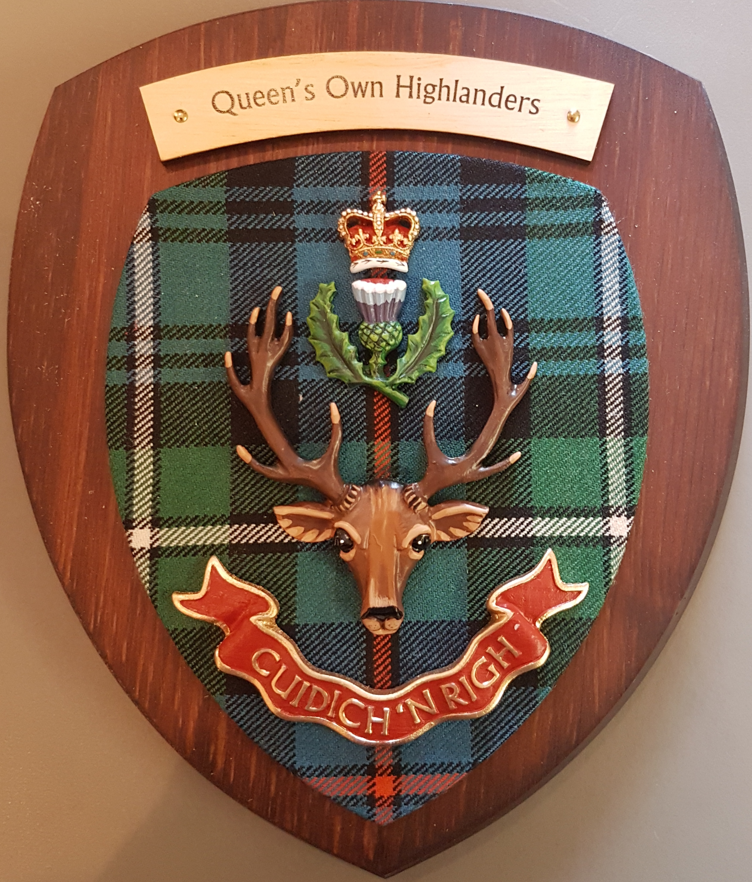 Queen's Own Highlanders colour Plaque
