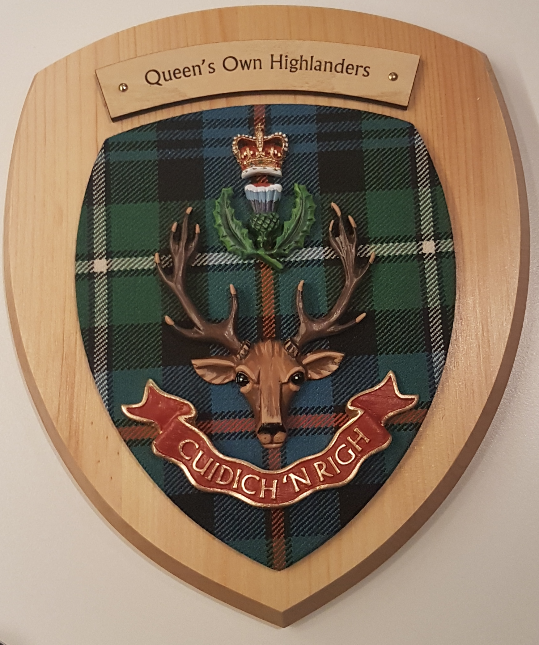 Queen's Own Highlanders Colour Plaque