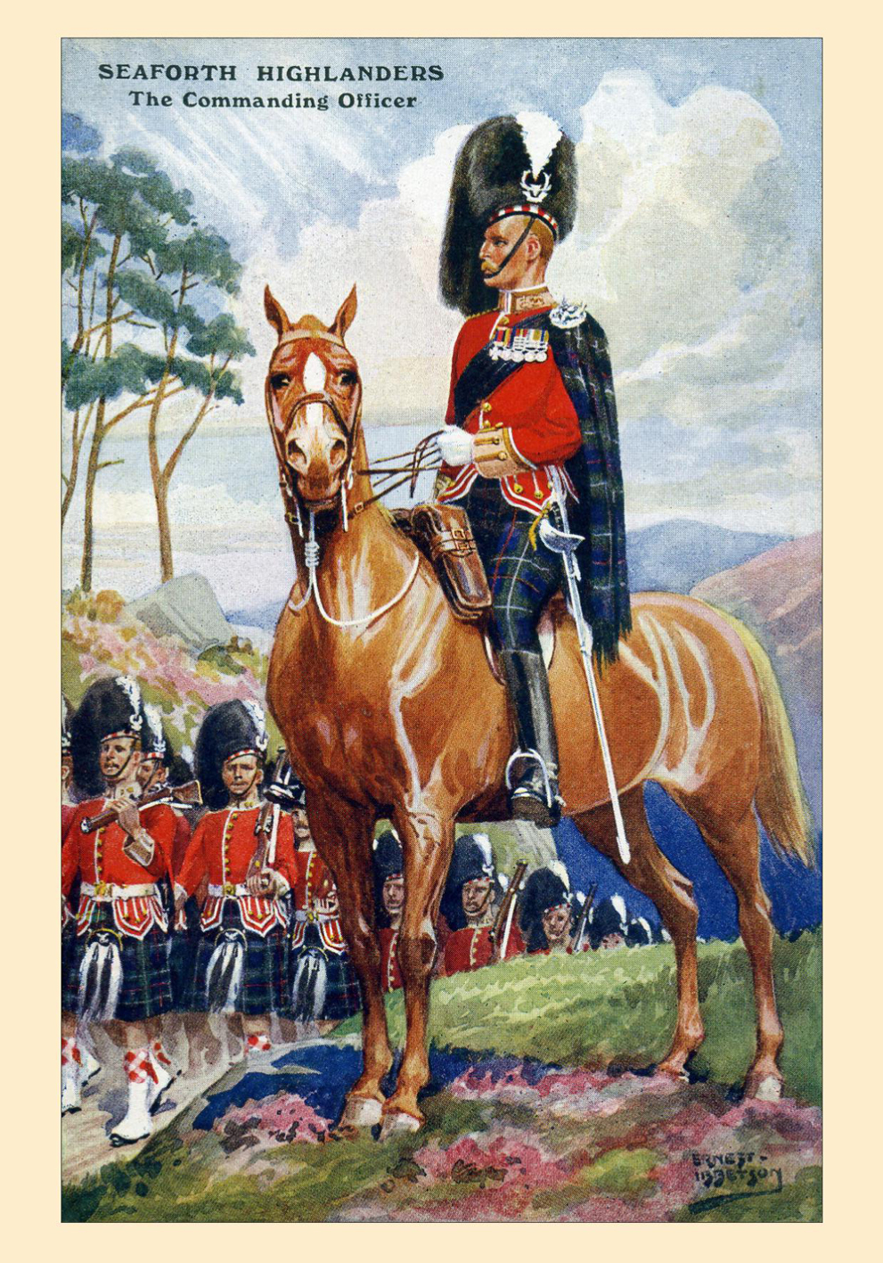 Postcard - Seaforth Highlanders The Commanding Officer