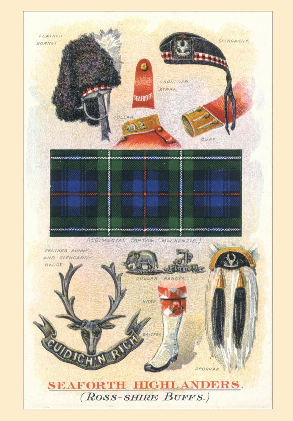 Seaforth Highlanders Postcard