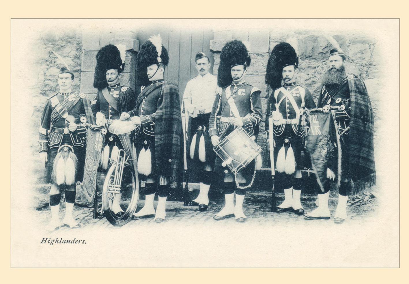 Cameron Highlanders Postcard