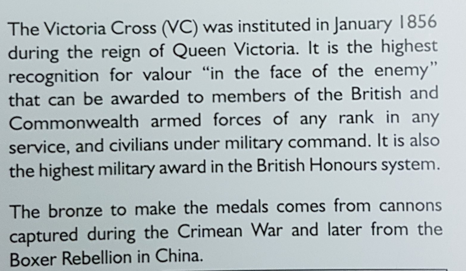 Victoria Cross - full size