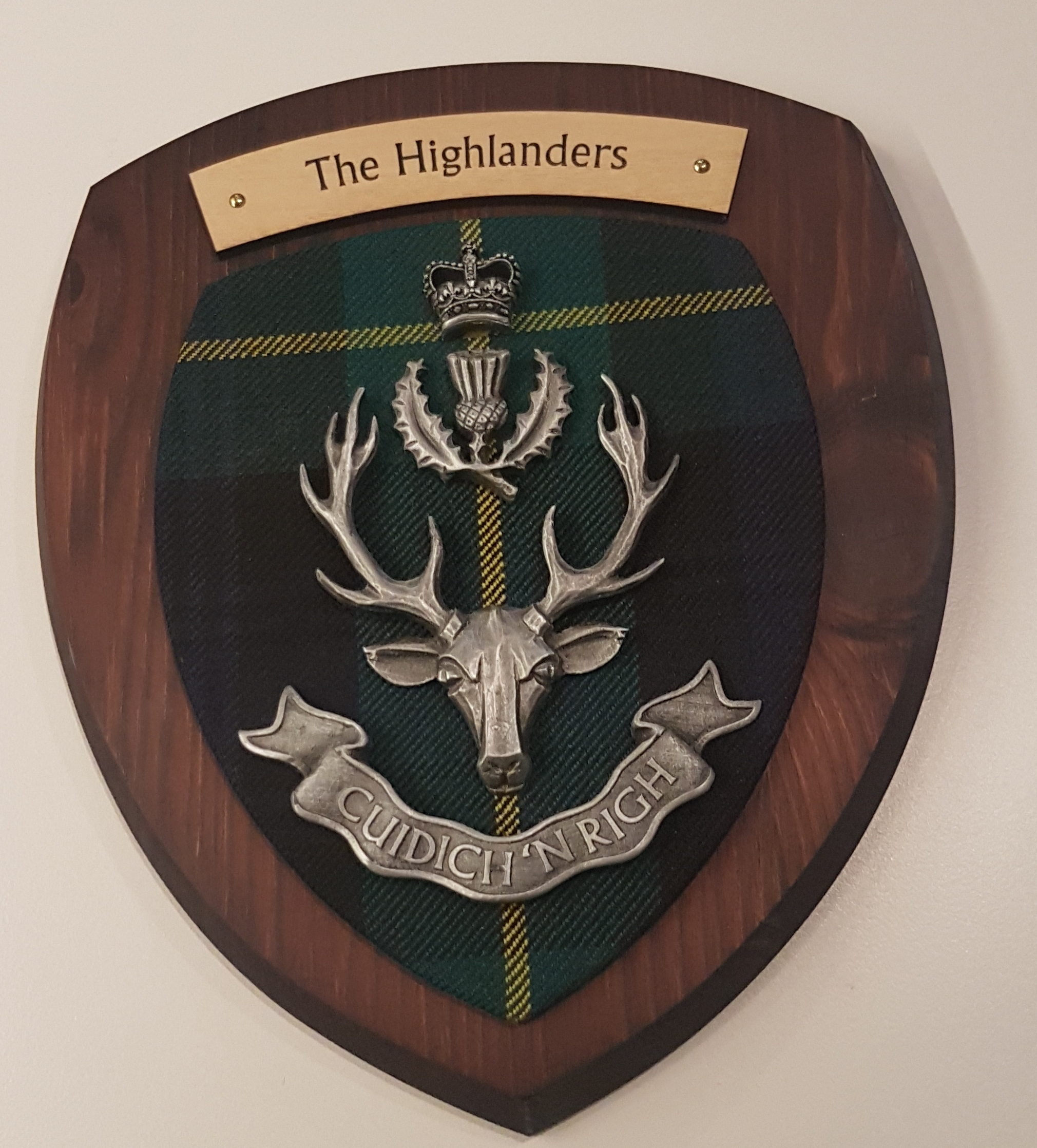 The Highlanders Pewter Plaque