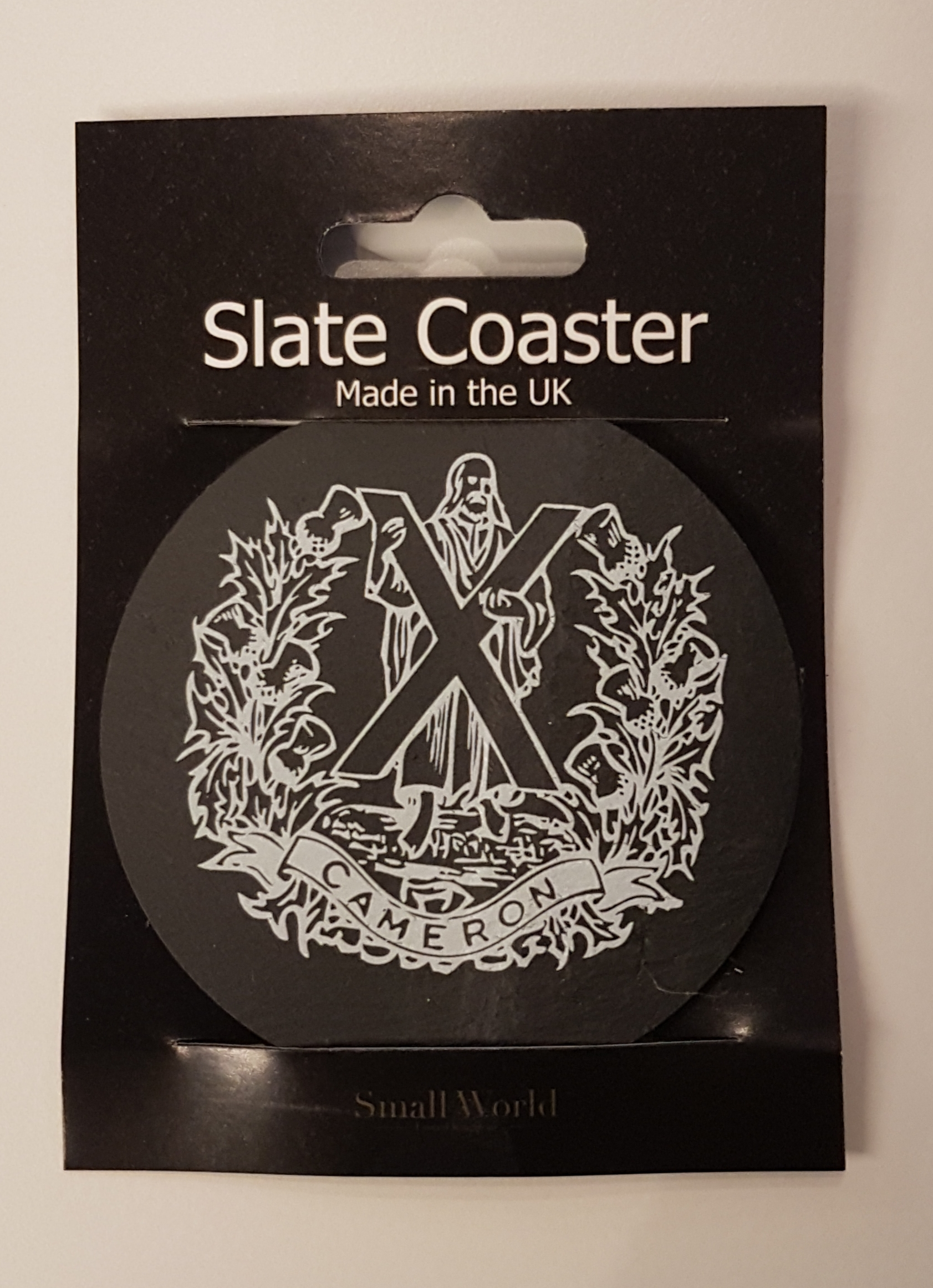 Slate Coaster - The Queen's Own Cameron Highlanders
