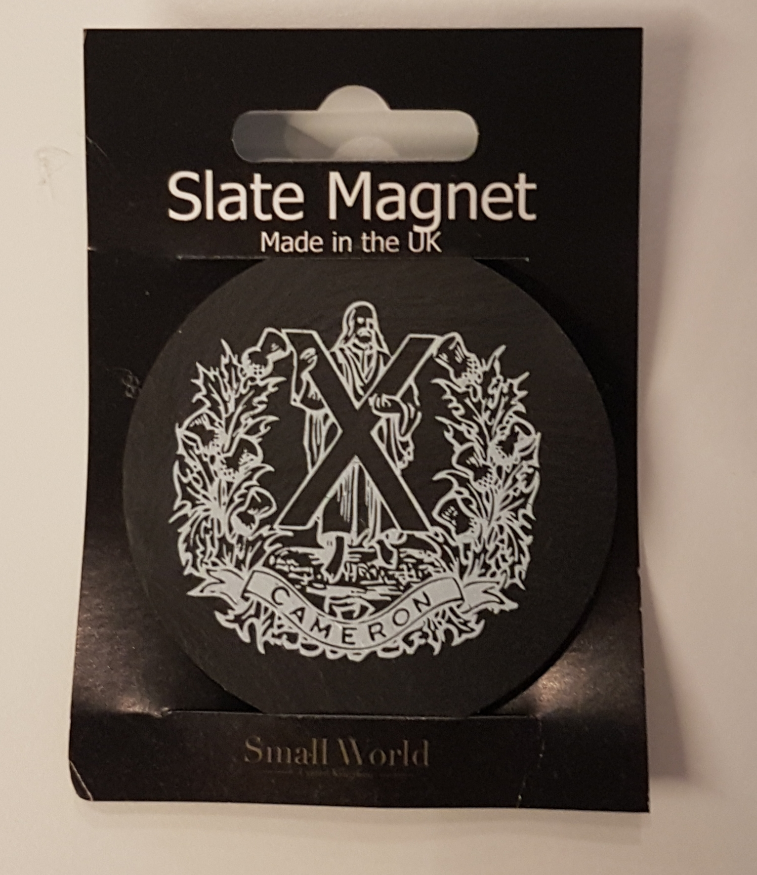 Slate Magnet - The Queen's Own Cameron Highlanders