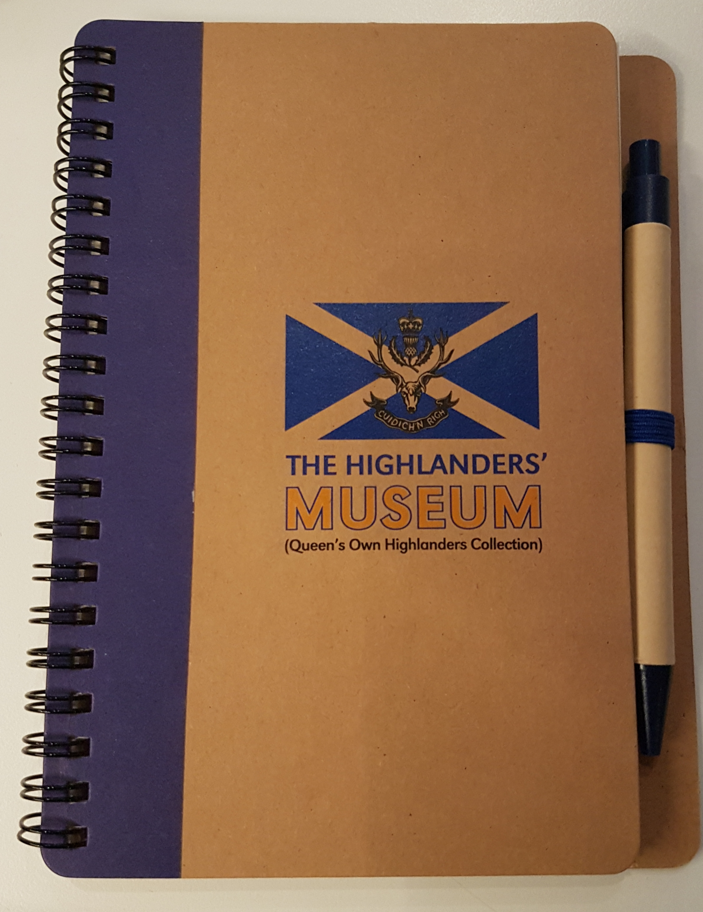 The Highlanders' Museum Recycled Notebook & pen