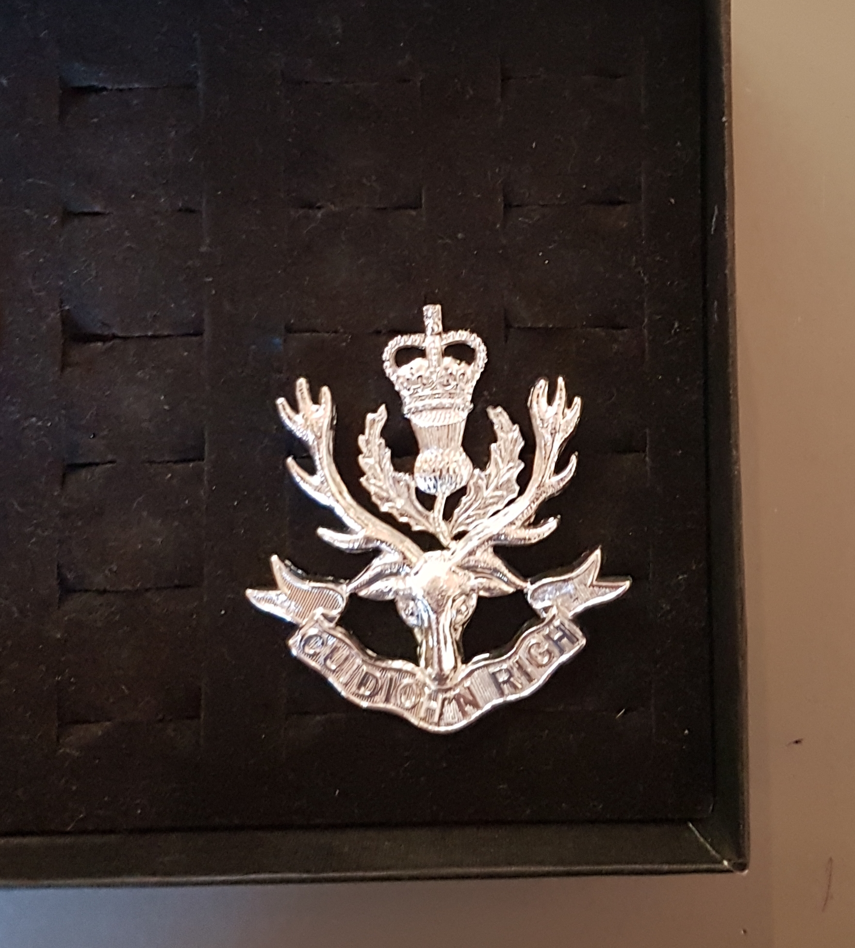Queens Own Highlanders (Seaforth and Camerons) Cap Badge