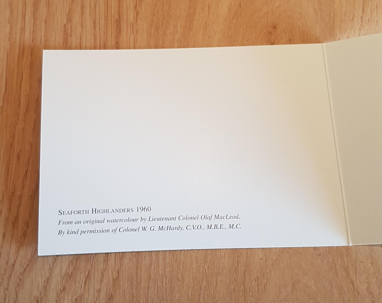 Seaforth Highlander Card