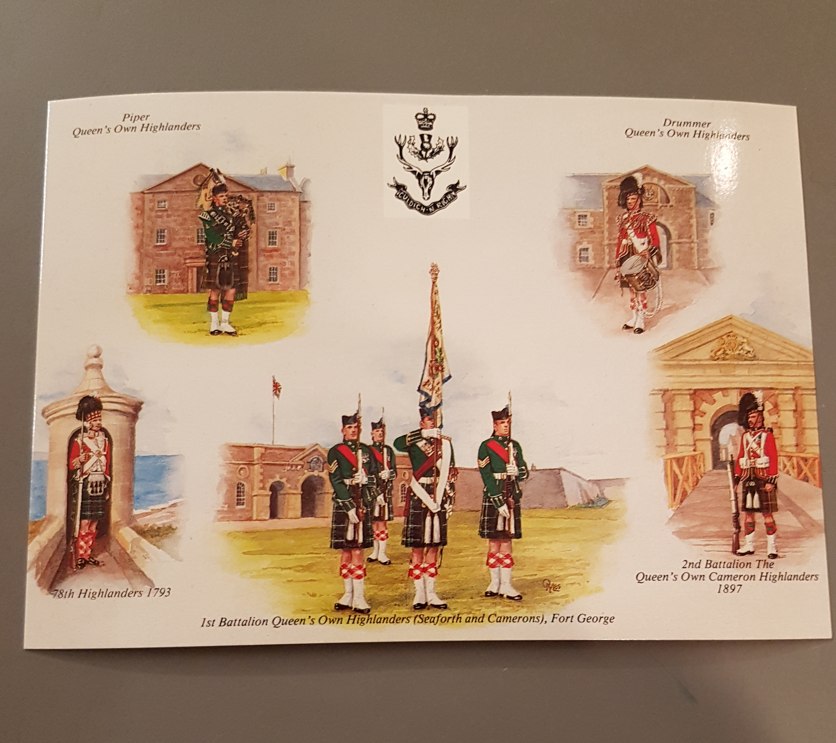 Queen's Own Highlanders - Postcard2