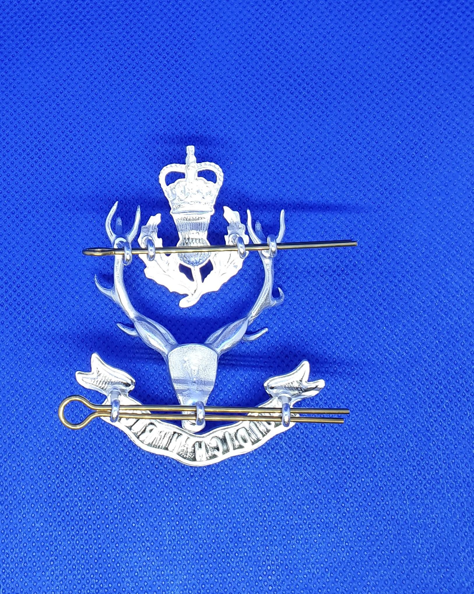 Queen's Own Highlander Staff Cap Badge