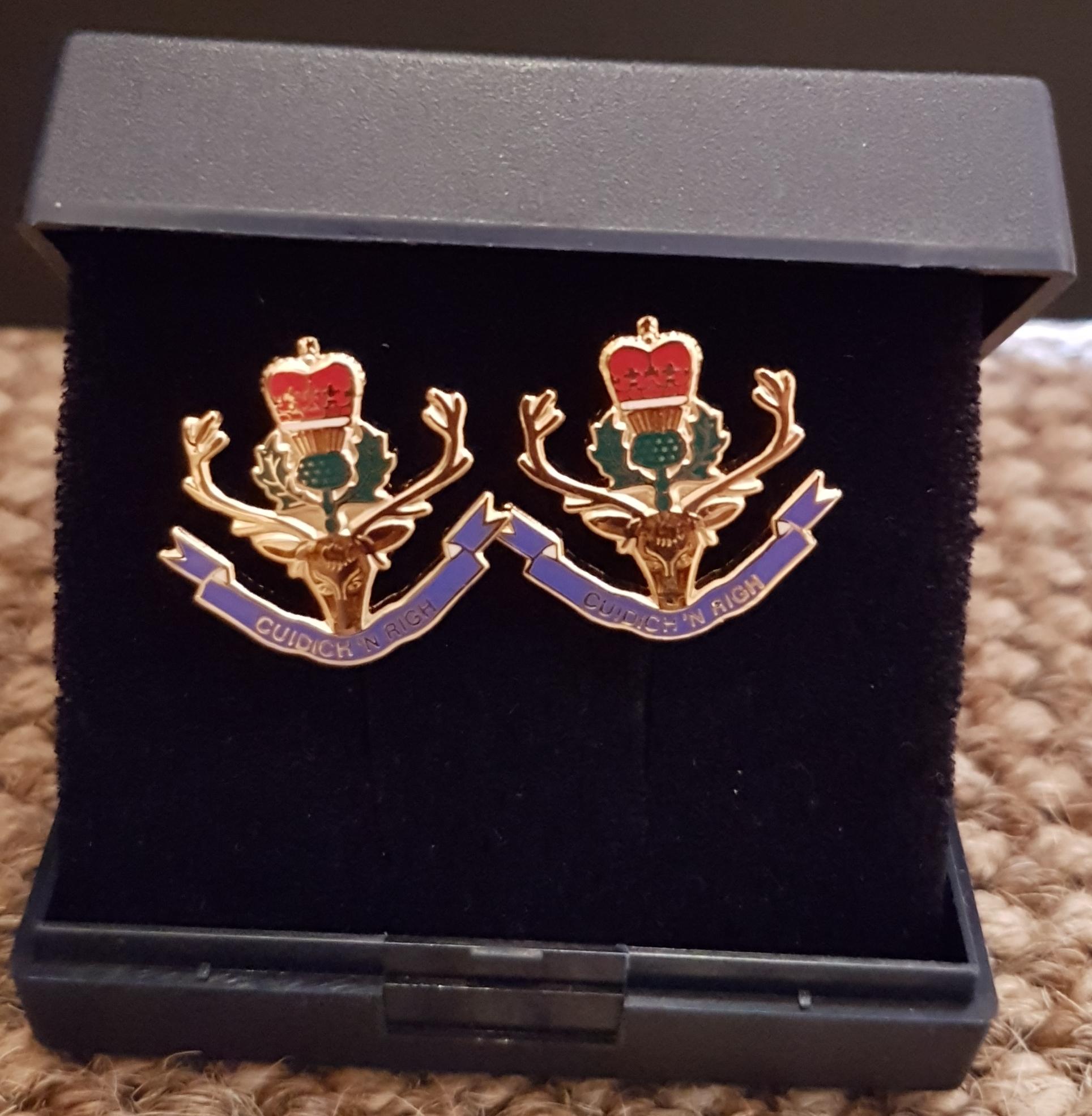 Queen's Own Highlanders Cufflinks