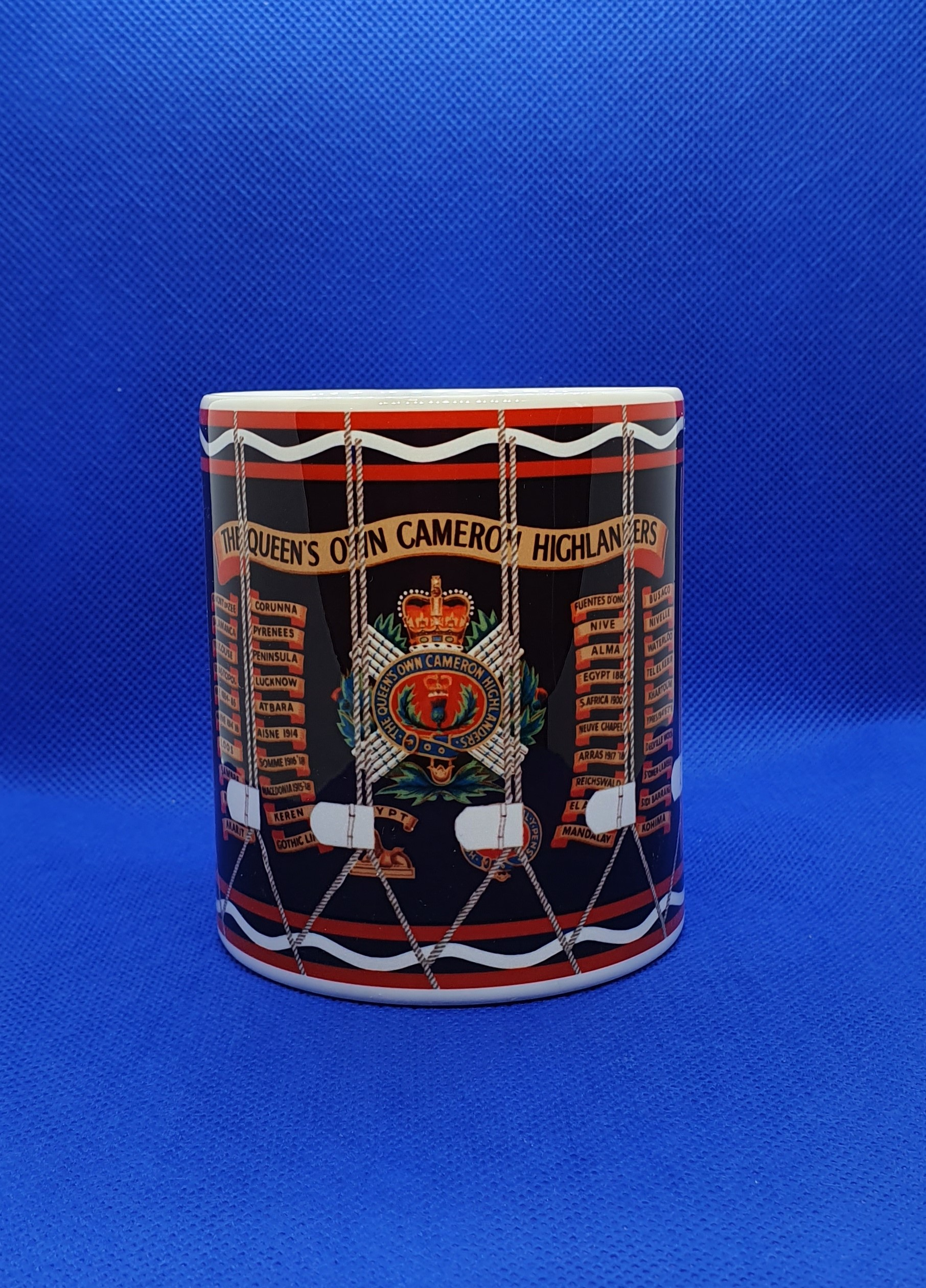 Queen's Own Cameron Highlanders Drum Mug