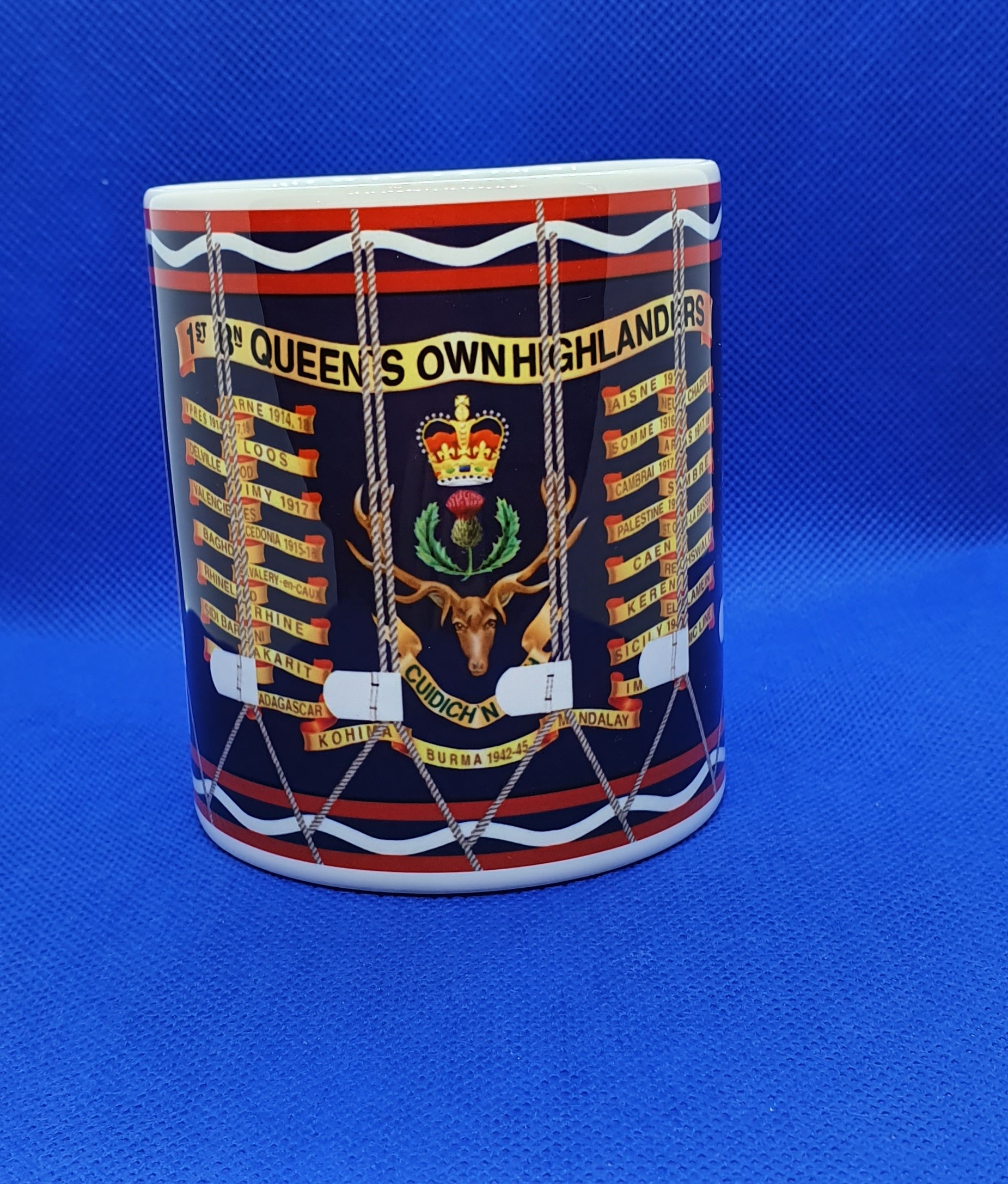 Queen's Own Highlander Drum Mug