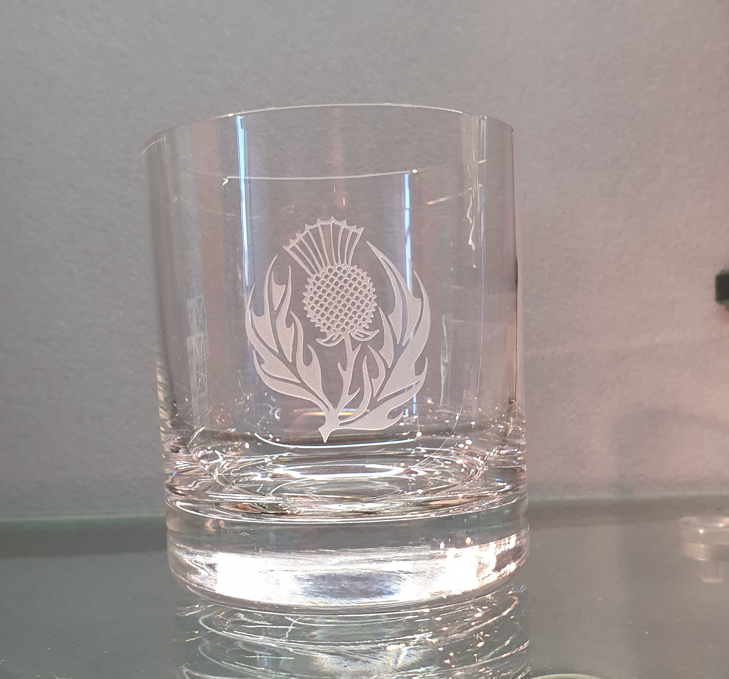 Whisky Glass - Thistle