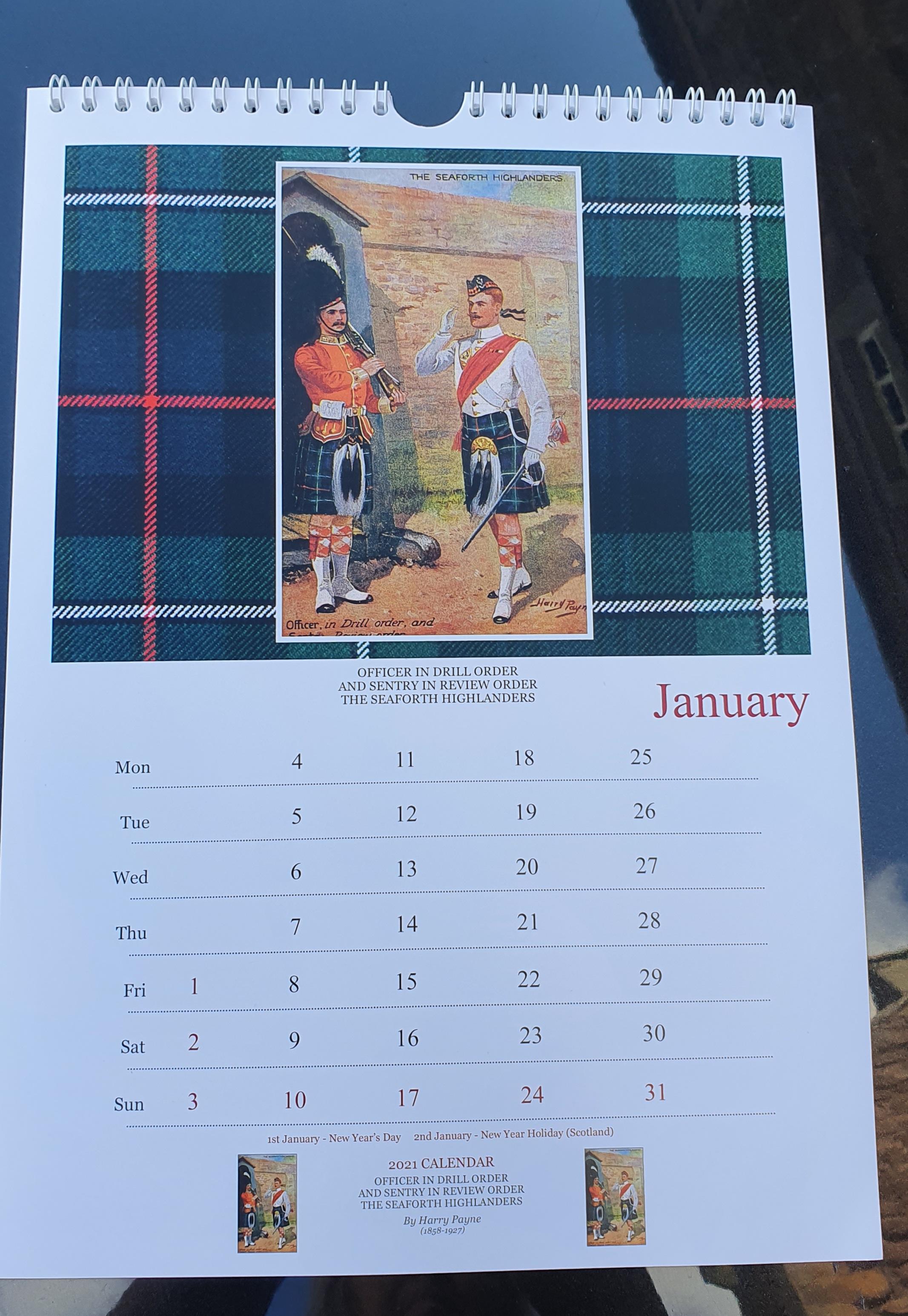The Queen's Own Cameron Highlanders 2021 Calendar